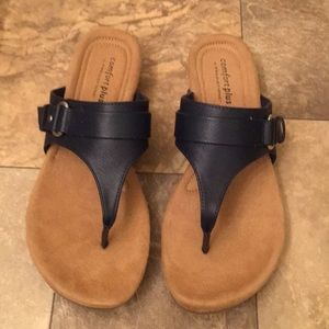 Predictions Shoes - 🆕 Comfort Plus Predictions Navy Leather Sandals